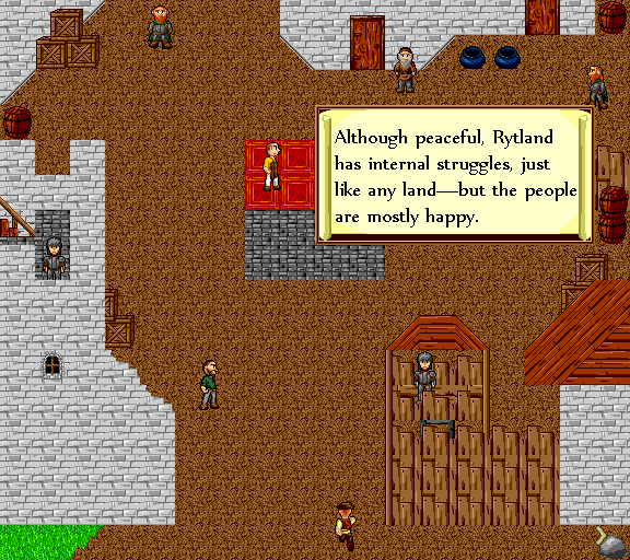 Although peaceful, Rytland has internal struggles, just like any land. But the people are mostly happy.