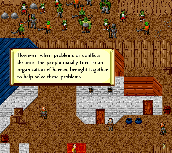 However, when problems or conflicts do arise, the people usually turn to an organization of heroes, brought together to help solve these problems.