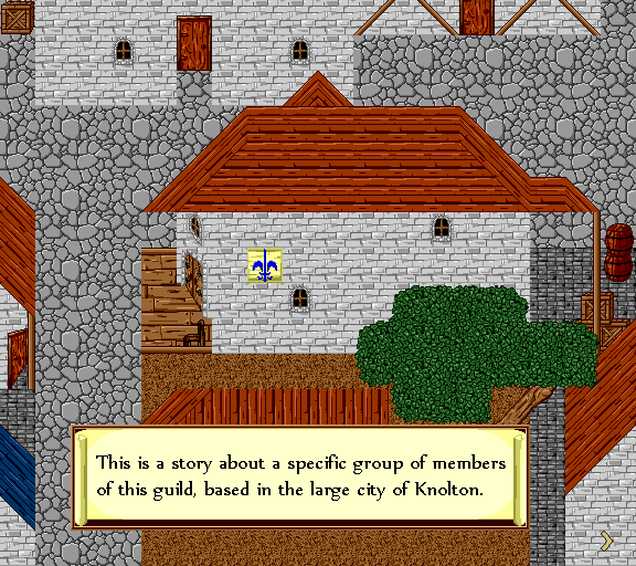 This is a story about a specific group of members of this guild, based in the large city of Knolton.