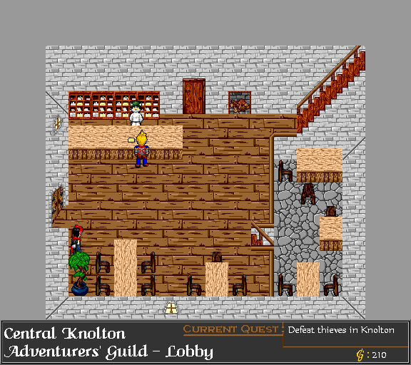 Central Knolton, Adventurers' Guild Lobby