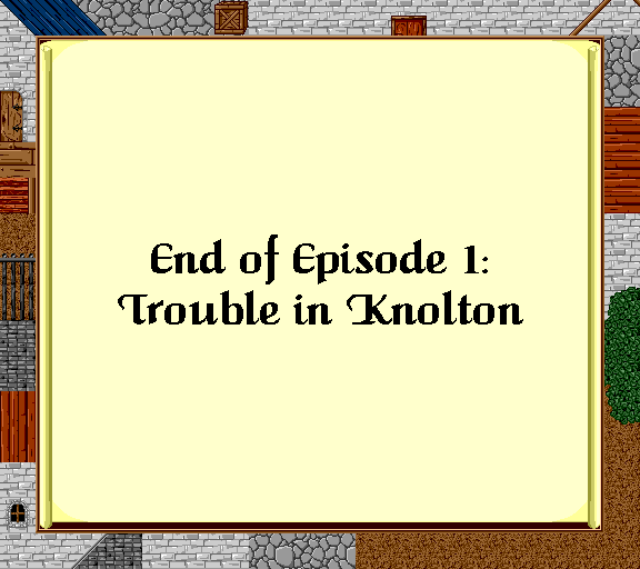 end of episode 1 trouble in Knolton