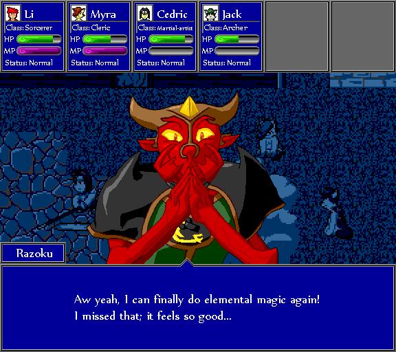 Aw yeah, I can finally do elemental magic again! I missed that; it feels so good.