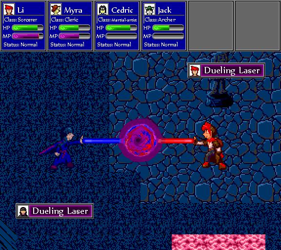 Dueling laser