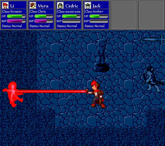 Red laser wins