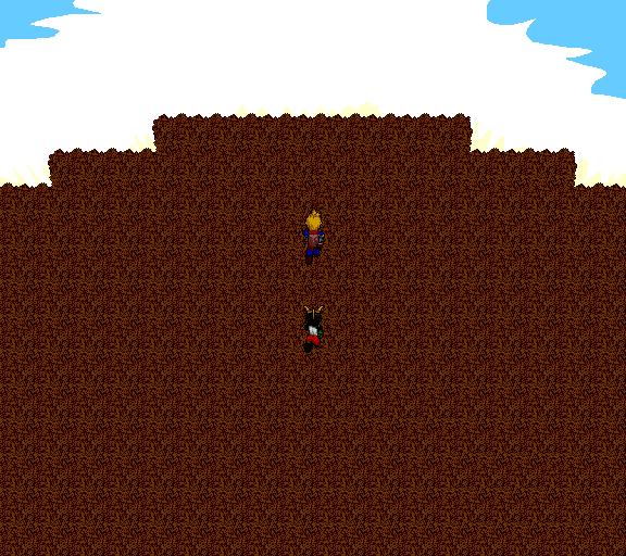 cresting a hill