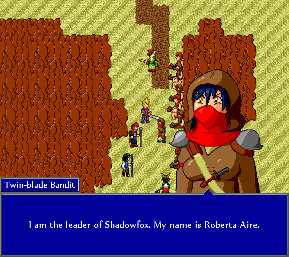 I am the leader of Shadowfox. My name is Roberta Aire.
