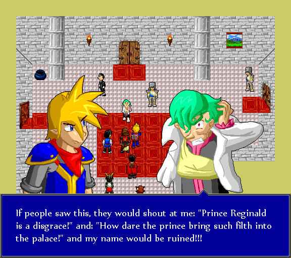 """If people saw this, they would shout at me: """"Prince Reginald is a disgrace!"""" and """"How dare the prince bring such filth into the palace!"""" and my name would be ruined!"""