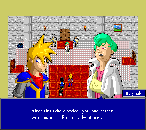 After this whole ordeal, you had better with this joust for me, adventurer.