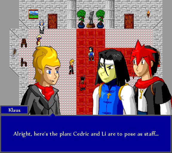 Alright, here's the plan: Cedric and Li are to pose as staff...