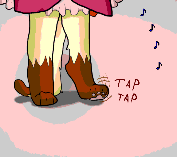 tapping foot