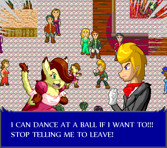 I can dance at a ball if I want to!!! Stop telling me to leave!