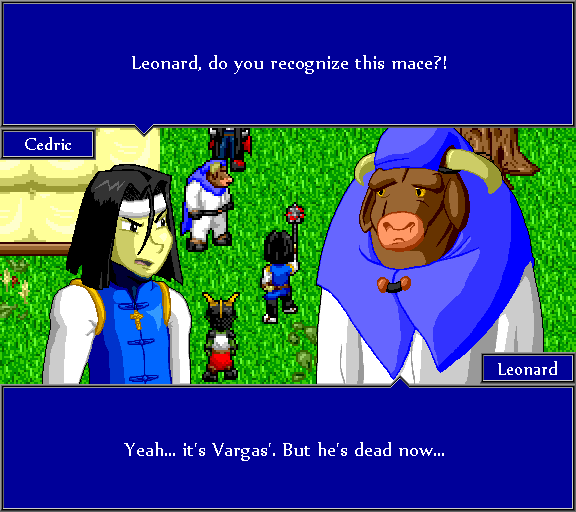 Leonard, do you recognize this mace?! Yeah... it's Vargas'. But he's dead now...